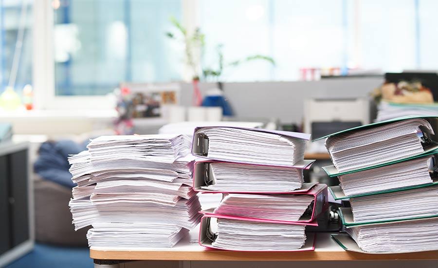 Papier ausdrucken statt Angebote digital ablegen