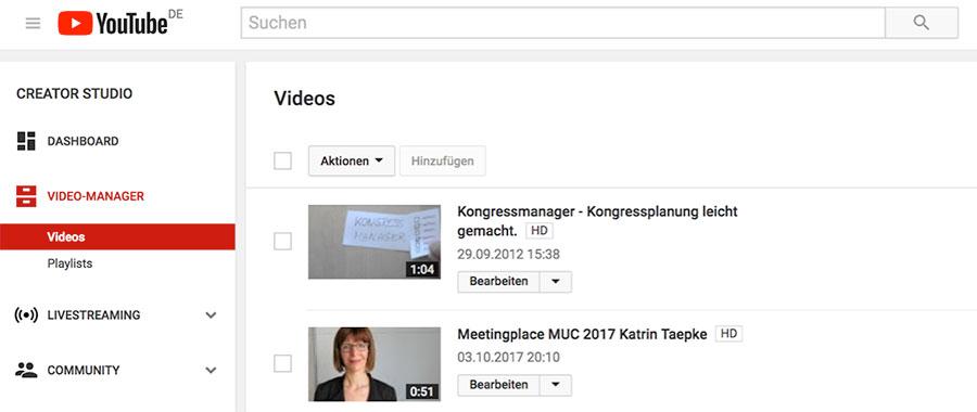 Video auf YouTube speichern