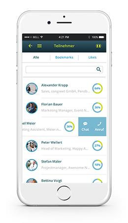 Congreet Matchmaking App im Iphone