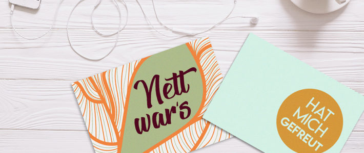 Erfreue deine Kunden mit einer echten Postkarte – digital produziert