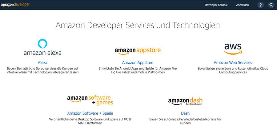 Amazon Developers Konto