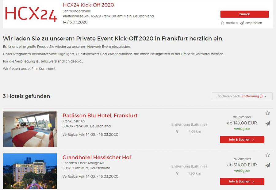 Instant Booking dank HCX24