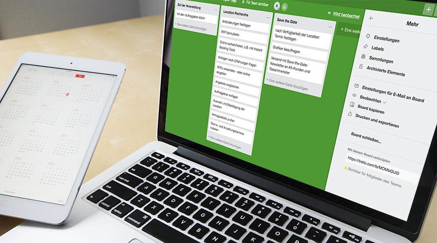 digitales Tool | Trello Board für Eventmanager