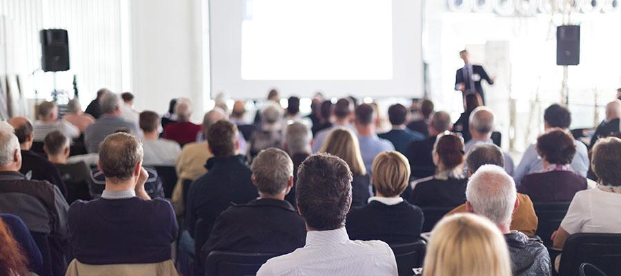 Medizinkongresse mit frontalen Vorträgen