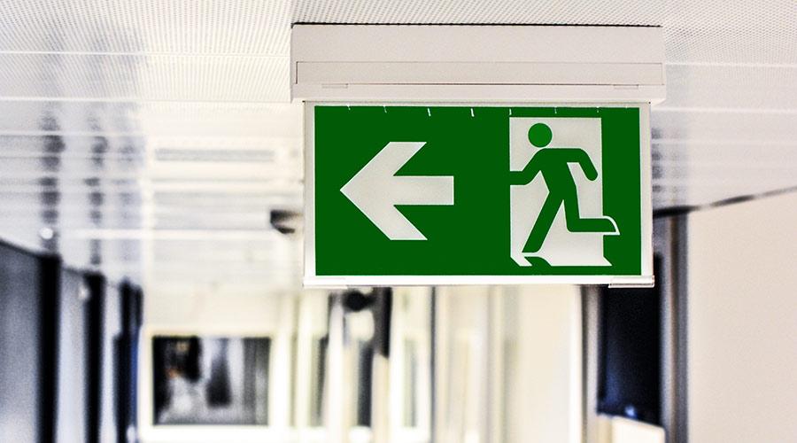 Üben für den Notfall: Fluchtwege ablaufen