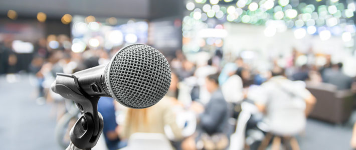 Vorträge halten auf Events