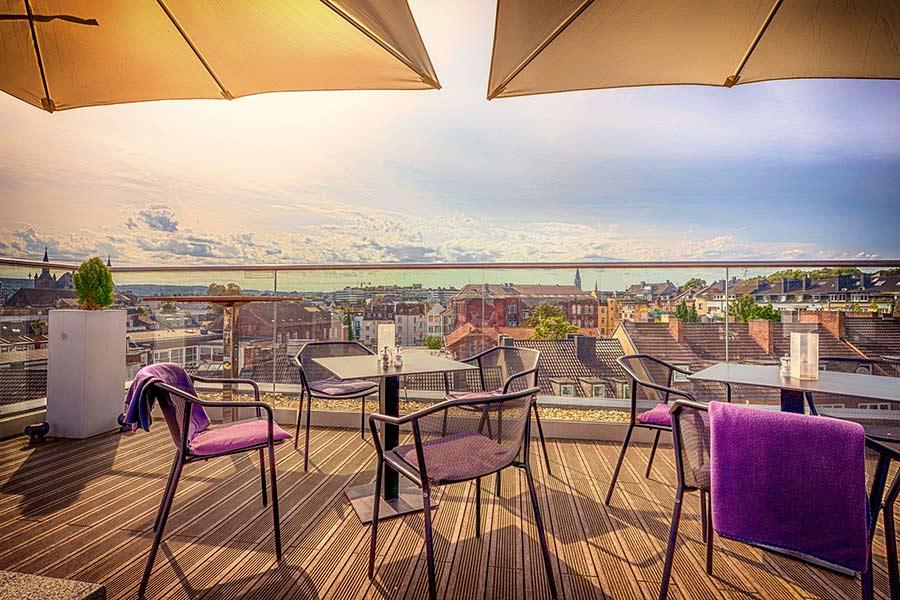 Highlight einer Veranstaltung: Ausblick von einer Dachterasse
