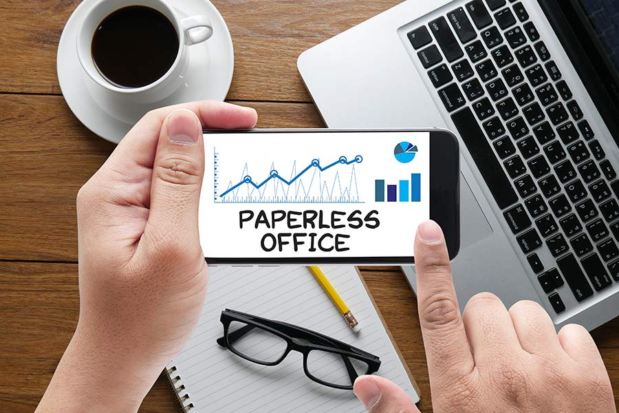 paperless office bei der paperless Conference