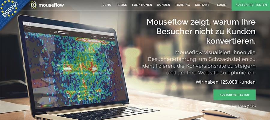 Heatmap deiner Event-Webseite – dank mouseflow