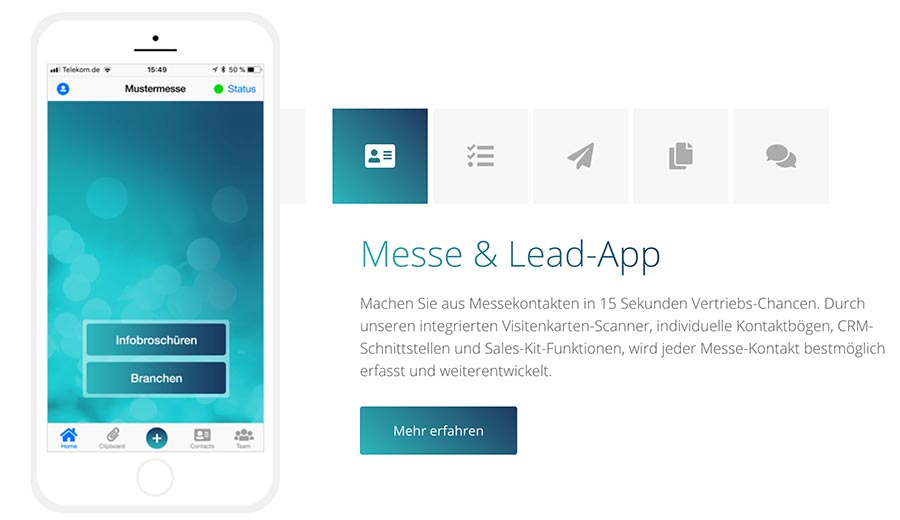 Messekontakte digital erfassen mit pitchview