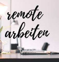 remote arbeiten und Events organisieren