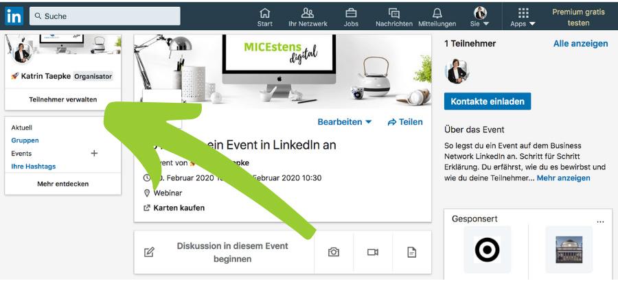 Event-Teilnehmer in LinkedIn verwalten