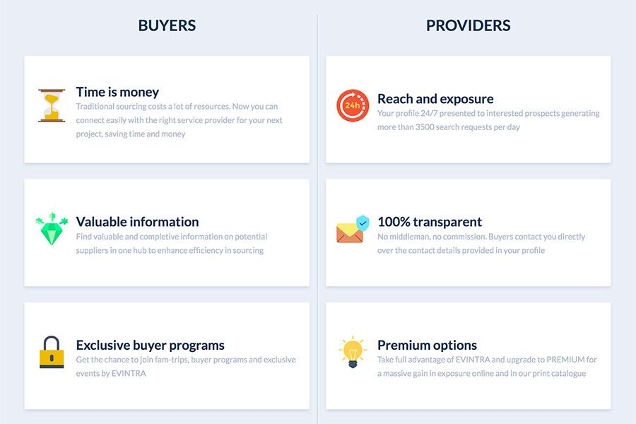 Vorteile für Eventplaner und MICE-Anbieter auf EVINTRA