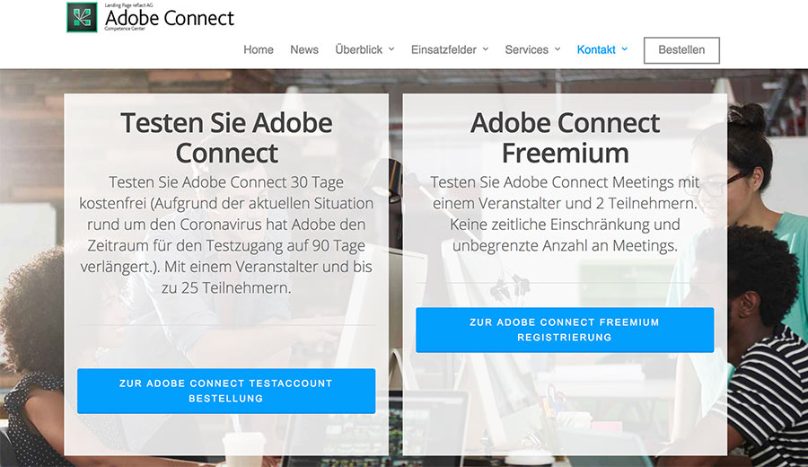 Adobe Connect für Videokonferenzen