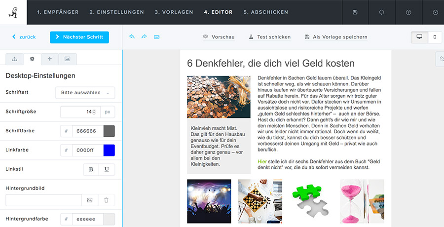 E-Mail-Marketing mit Newsletter2Go