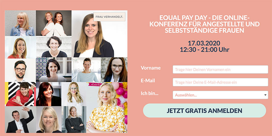 Equal Pay Day Summit von frauverhandelt