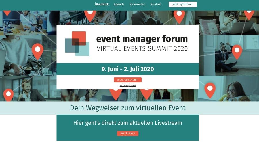 Event-Tech-Partner lieferte die Event-Plattform für das Event Manager Forum