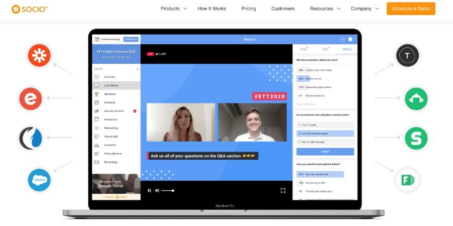 Event-Plattform Socio