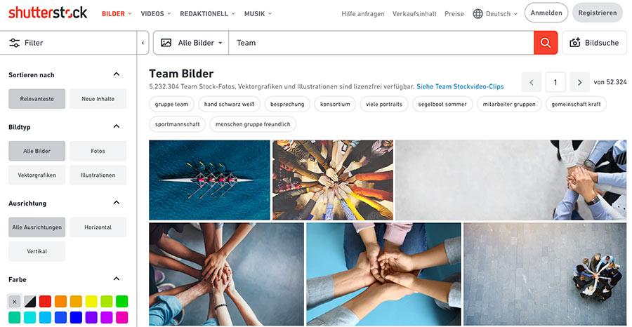 Stockfotos von Shutterstock