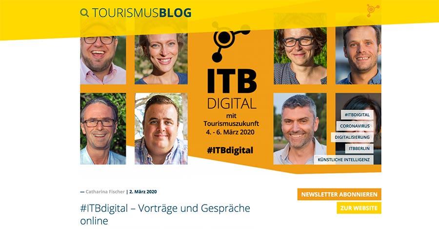 Tourismusblog statt ITB
