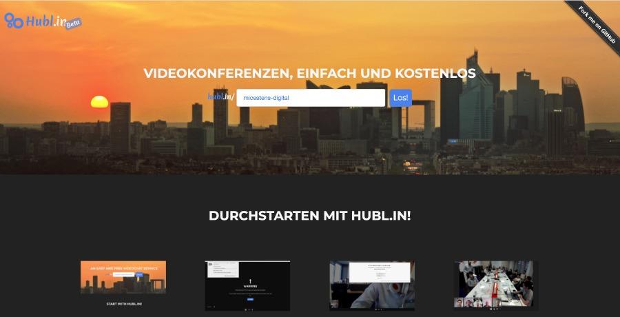 Videokonferenz-Lösung Hubl.in
