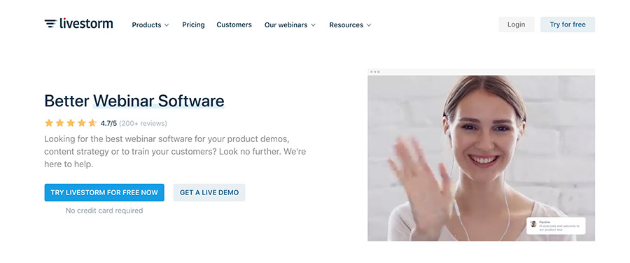 Videokonferenz Tool livestorm für automatisierte Webinare