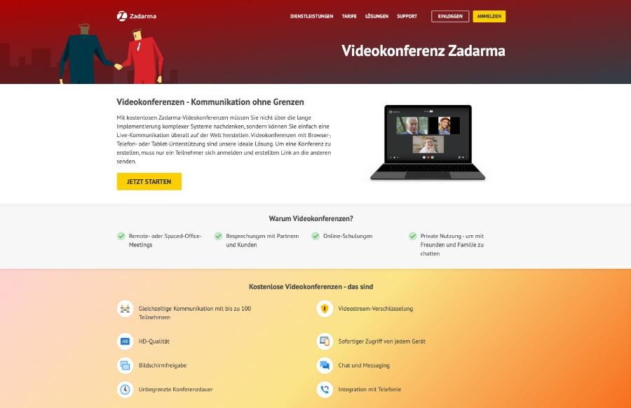 Videokonferenz mit Zadarma