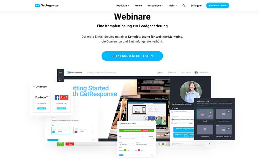 Webinare mit GetResponse