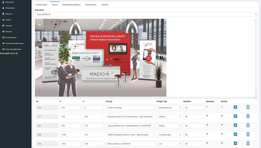 WordPress-artiges CMS bei expo-IP