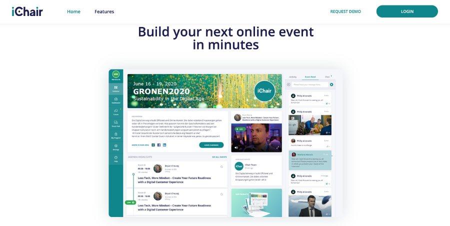 iChair: Plattform für virtuelle Messen und Events