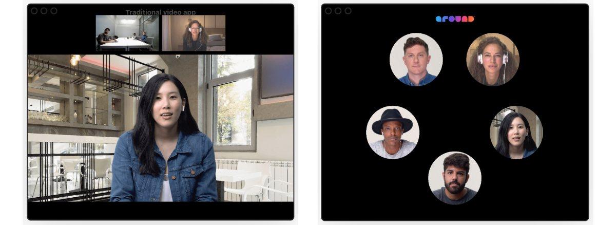 klassisches Videokonferenz-Tool versus Around