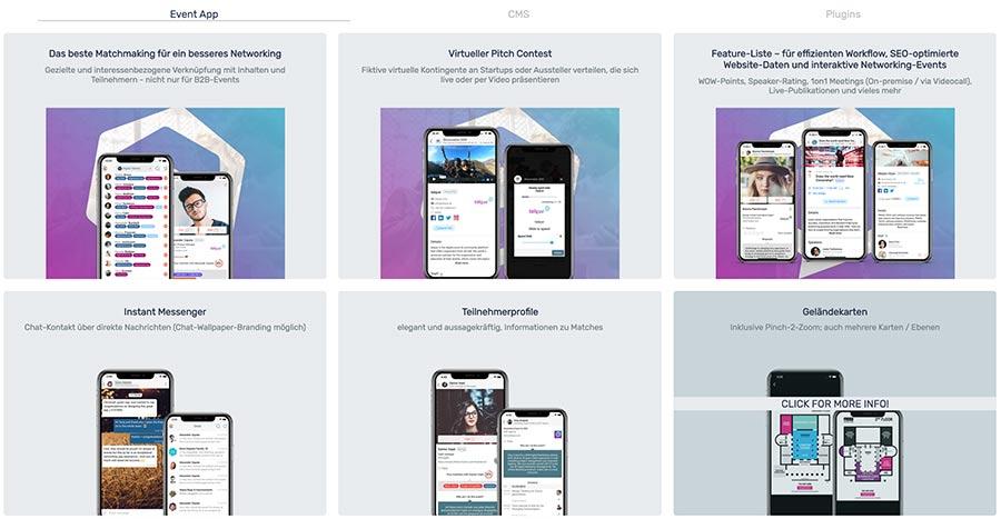 talque | Online-Event-Plattform, Event-App, CMS und Event-Website in einem
