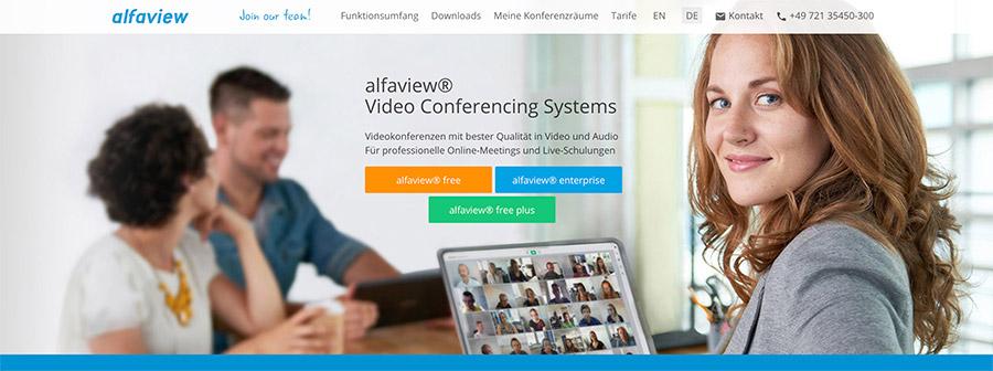 Videokonferenz mit live Übersetzung von alfaview