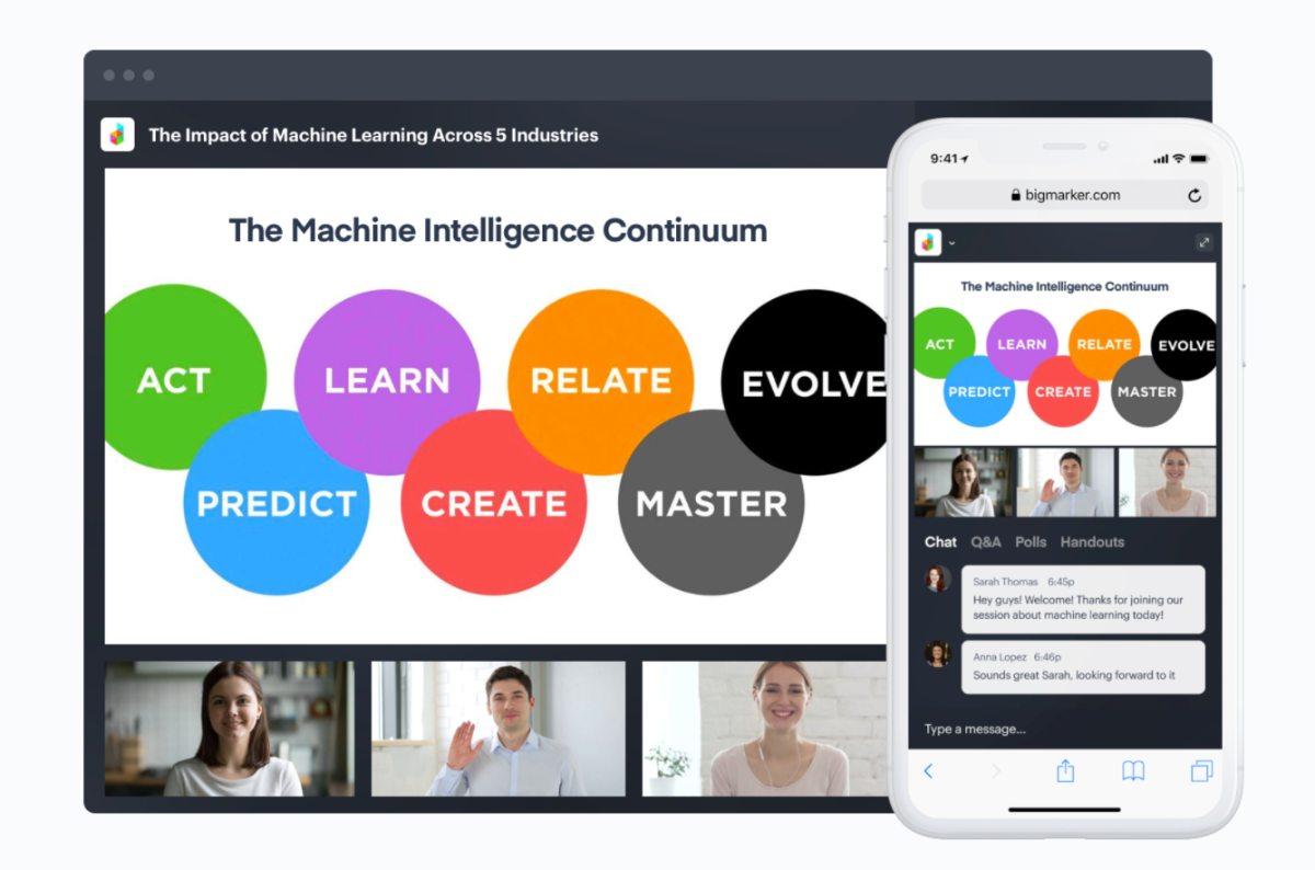 Videokonferenzen und Webinare mit Bigmarker