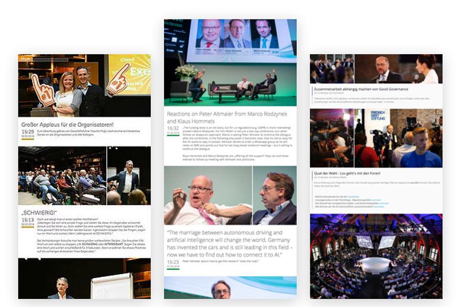 virtuelle Events so sieht ein Live-Blog aus