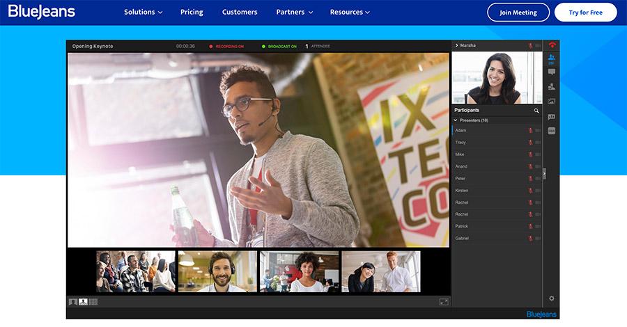 virtuelle Konferenzen und Meetings mit BlueJeans