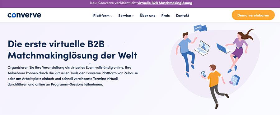 virtuelles Event mit der B2B-Matchmakinglösung von converve
