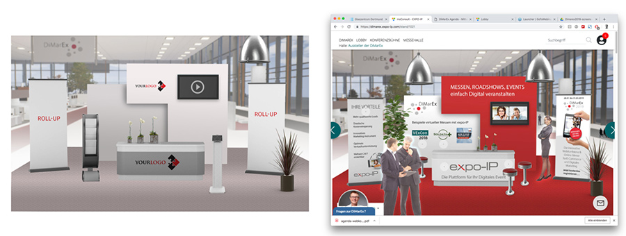virtueller Messestand mit Templates von expo-IP