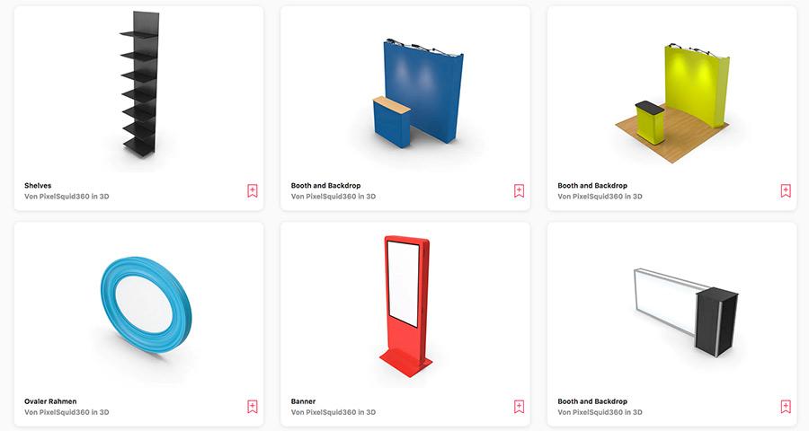 Grafik-Vorlagen für 3D Messe-Elemente