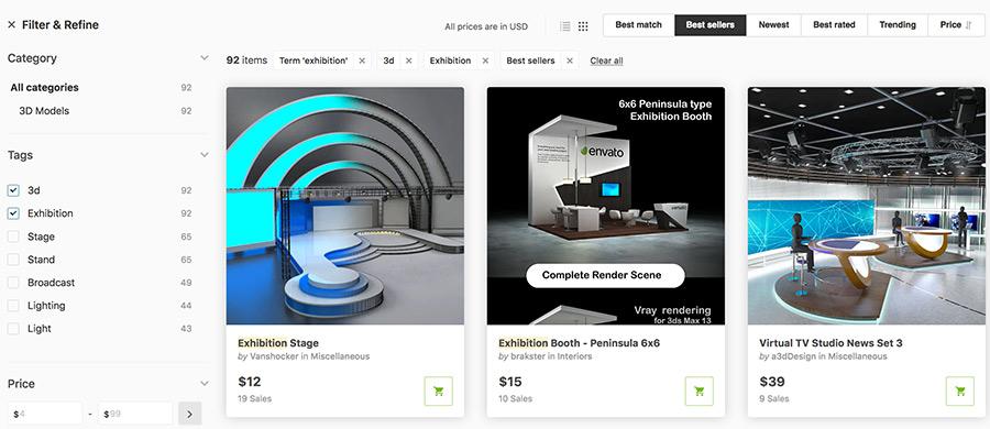 Grafik-Vorlagen für 3D Messestände