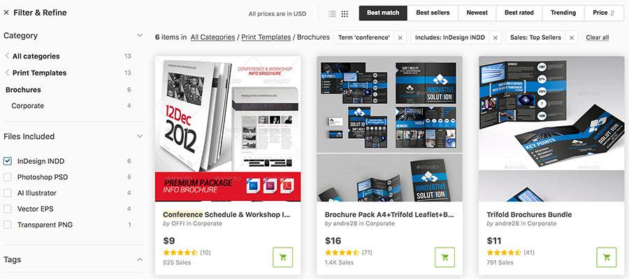 Profi-Vorlagen für Broschüren, Event-Flyer, Sponsorings und Exhibitor Manuals