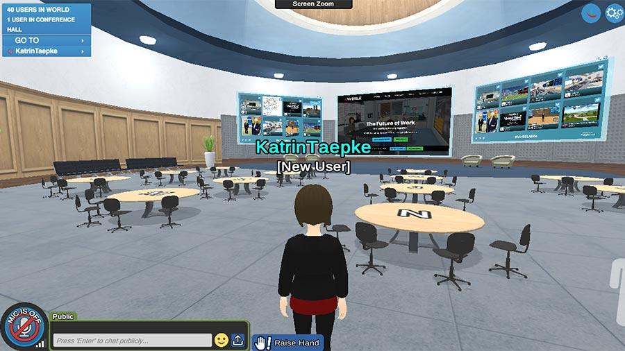 VirBELA Plattform für virtuelle Events