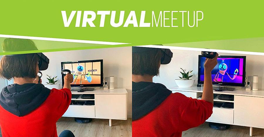 Einstimmung auf die Bedienung einer VR-Brille und das virtual MeetUp