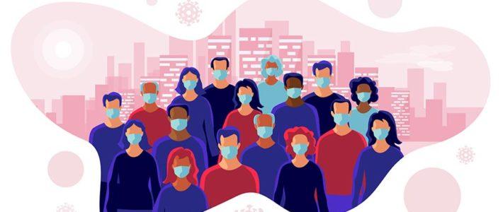 Gesichtsmasken für Events