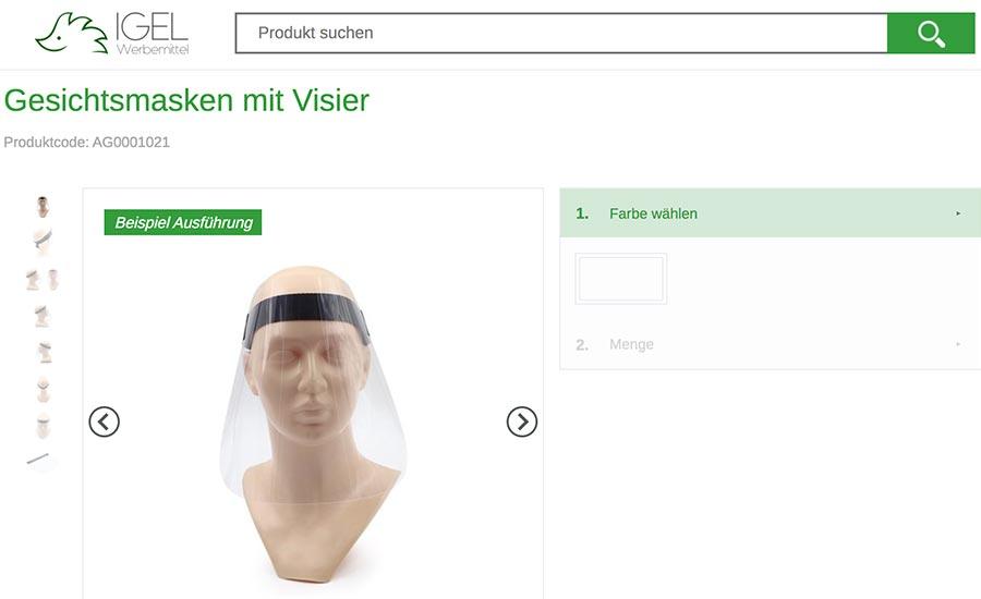 Gesichtsmasken von IGEL
