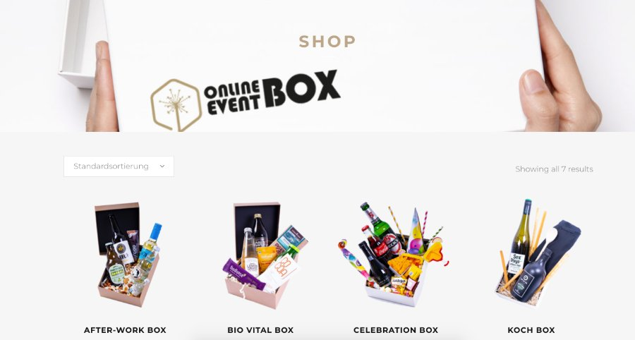 Online Event Box für virtuelle Rahmenprogramme bei Events