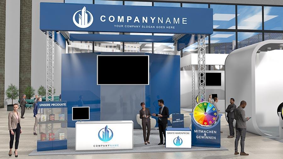 So könnte dein Stand auf einer virtuellen Karrieremesse mit meetyoo aussehen