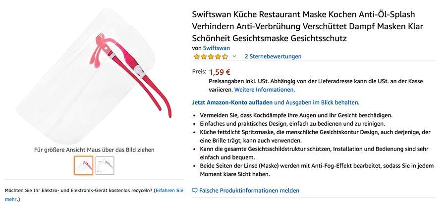 Swiftswan Gesichtsschutz