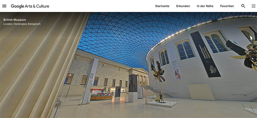 virtueller Museumsbesuch mit Google Arts & Culture