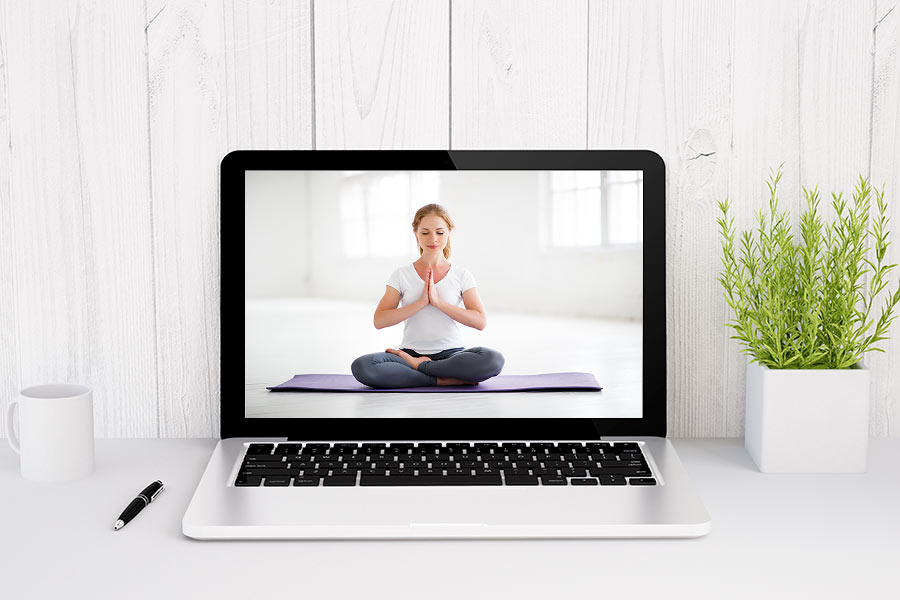 virtuelles Rahmenprogramm: Online Yoga-Session